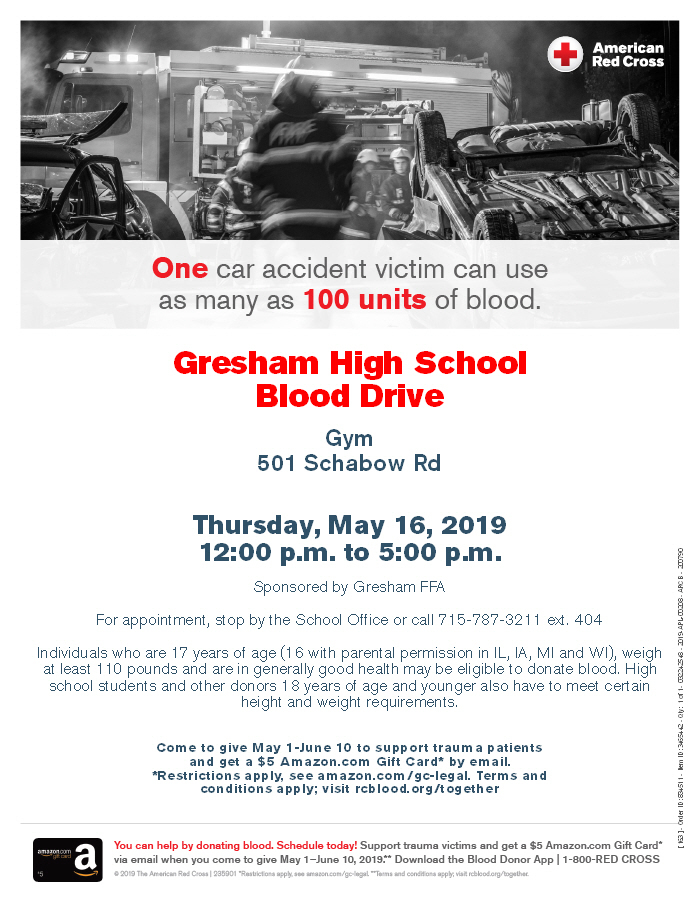 Gresham Blood Drive